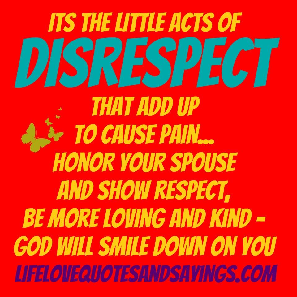 Disrespect quote #8