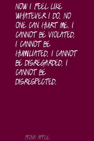 Disrespected quote #2