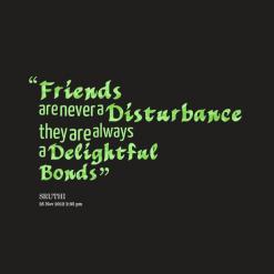 Disturbance quote #2