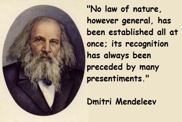 Dmitri Mendeleev's quote #4