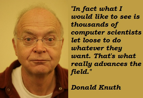 Donald Knuth's quote #4