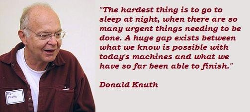 Donald Knuth's quote #5