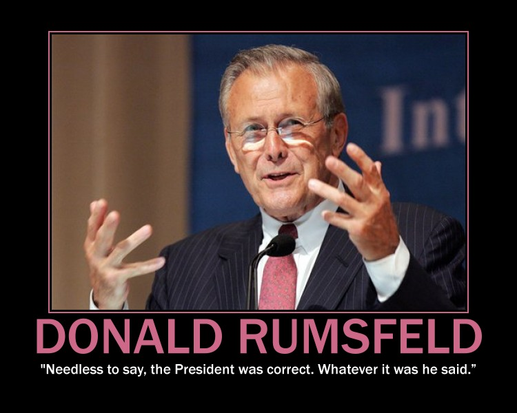 Donald Rumsfeld's quote #2