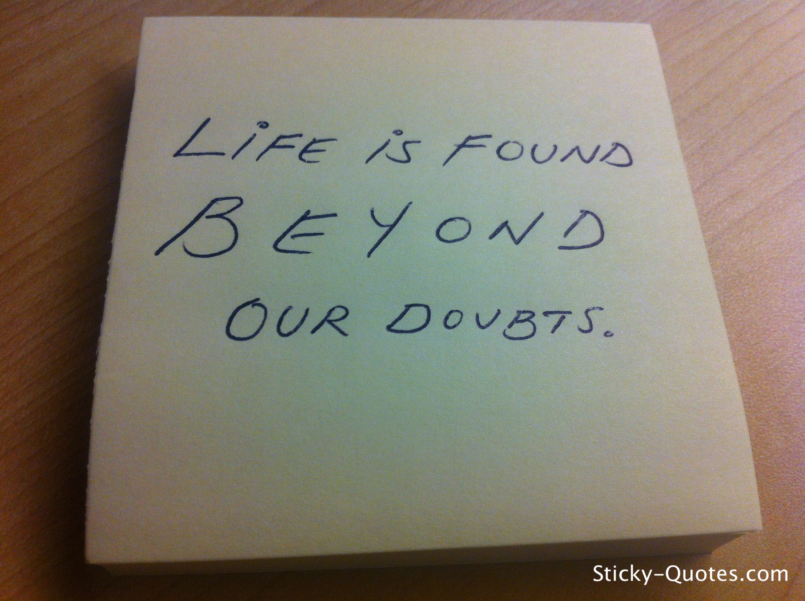 Doubts quote #4