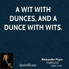 Dunce quote #1