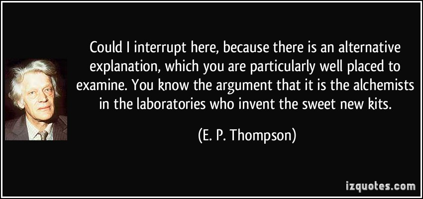 E. P. Thompson's quote #5
