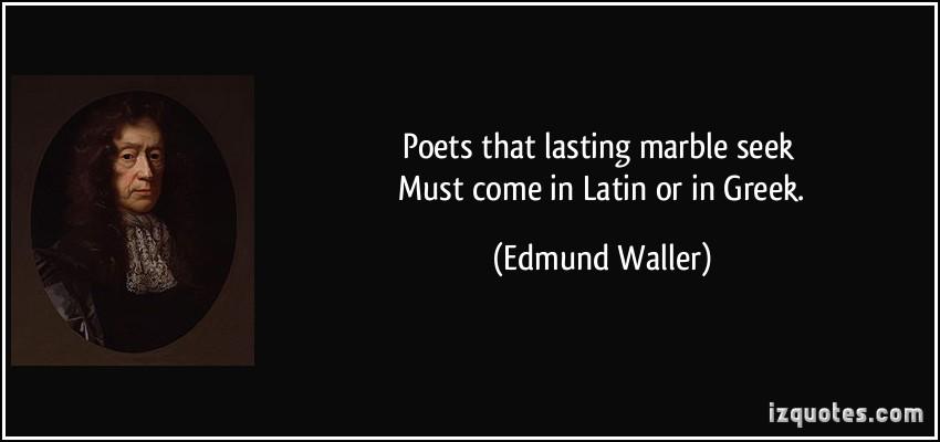 Edmund Waller's quote #2