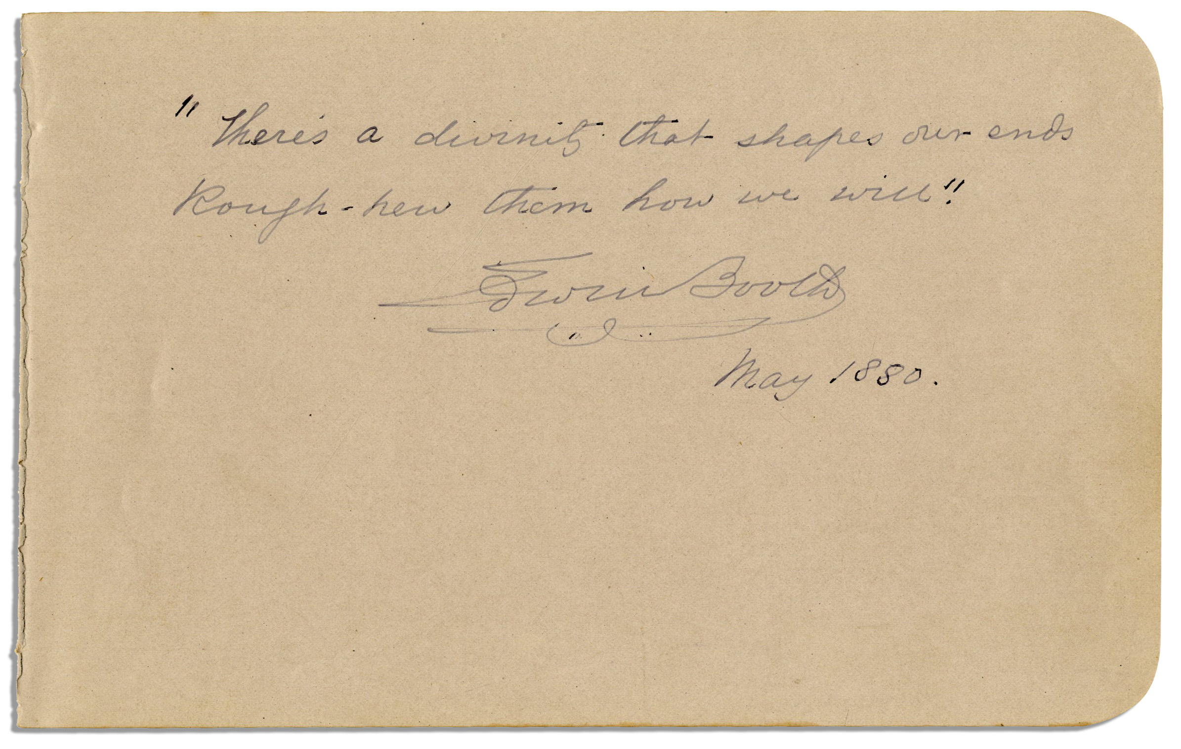 Edwin Booth's quote #1