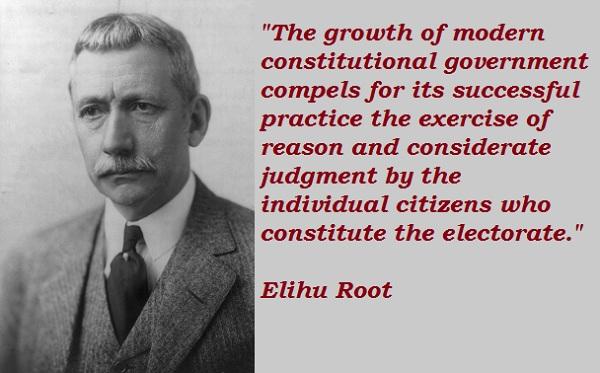Elihu Root's quote #1