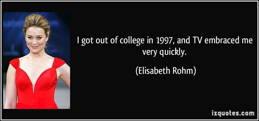 Elisabeth Rohm's quote #1