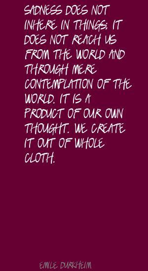 Emile Durkheim's quote