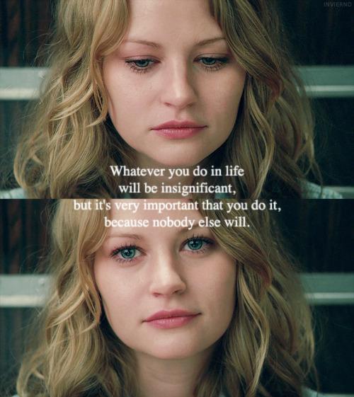 Emilie de Ravin's quote