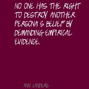 Empirical quote #1