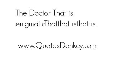 Enigmatic quote #1