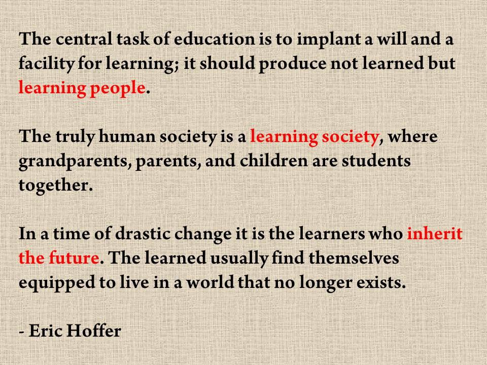 Eric Hoffer's quote #7