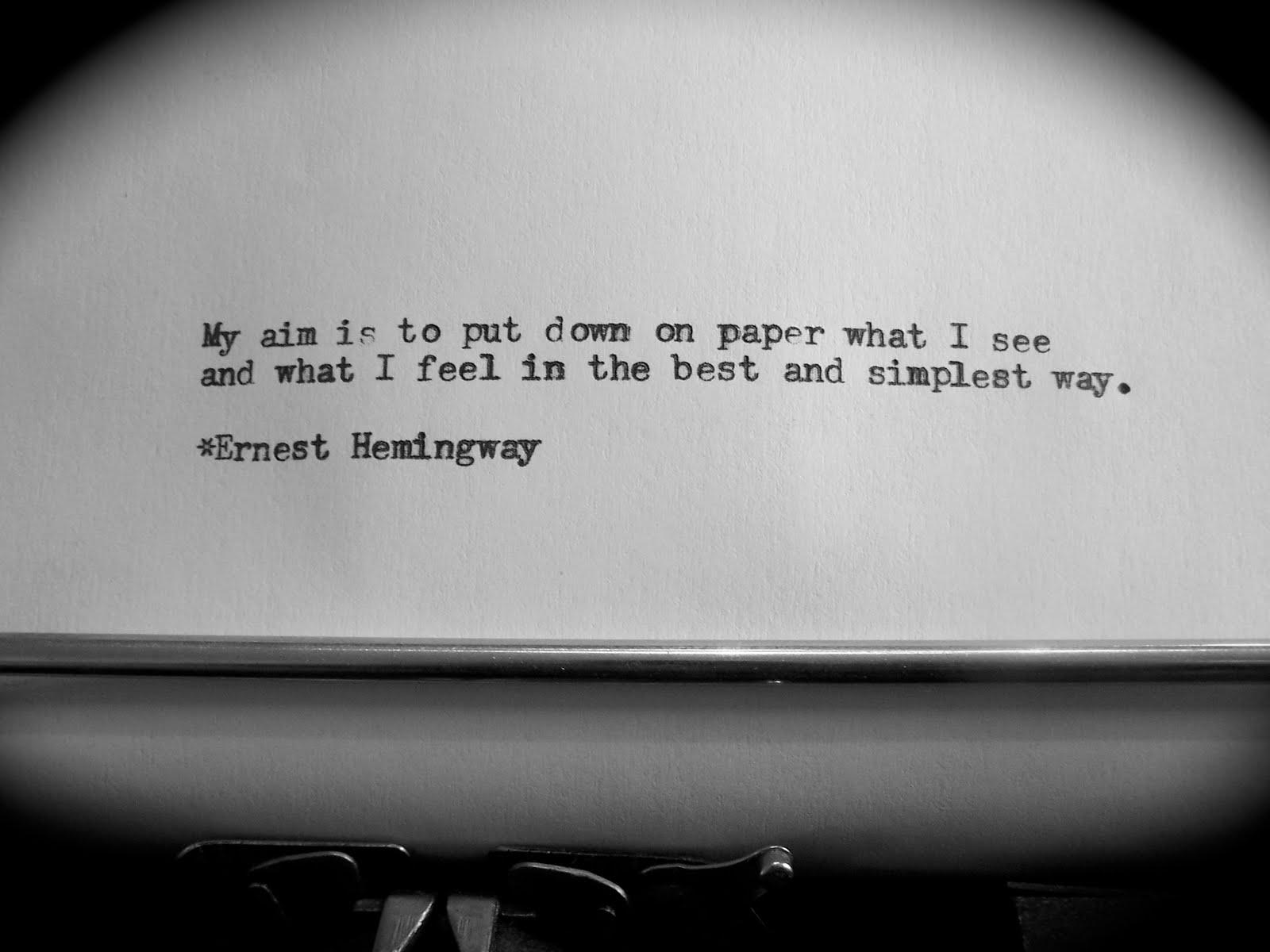Ernest Hemingway quote #1