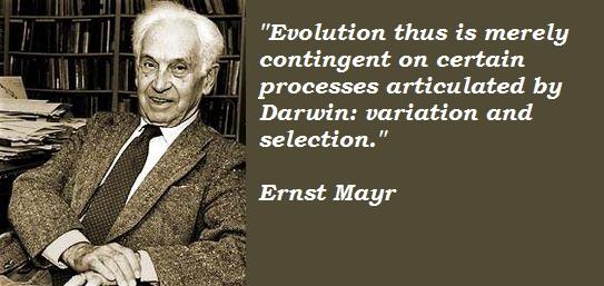 Ernst Mayr's quote