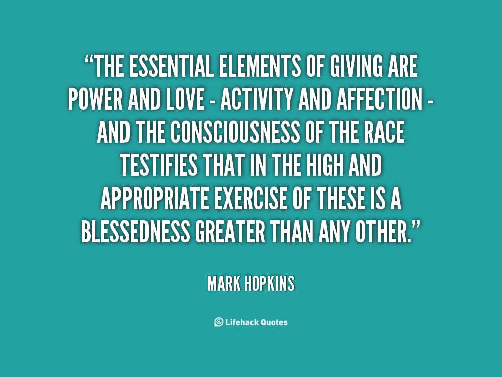 Essential Elements quote #1