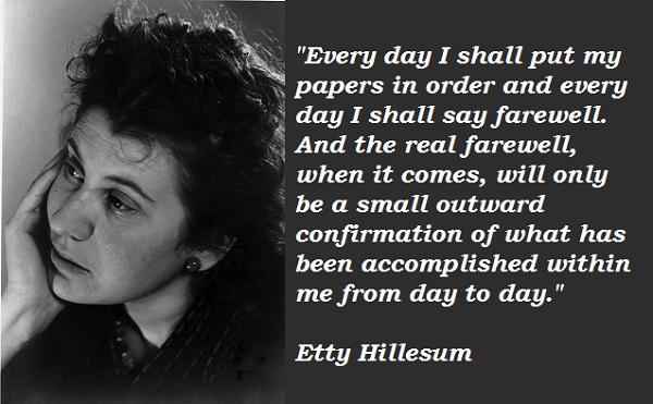 Etty Hillesum's quote #5