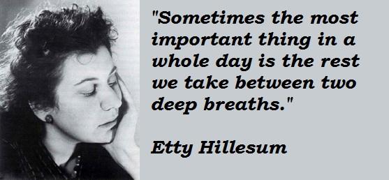 Etty Hillesum's quote #6