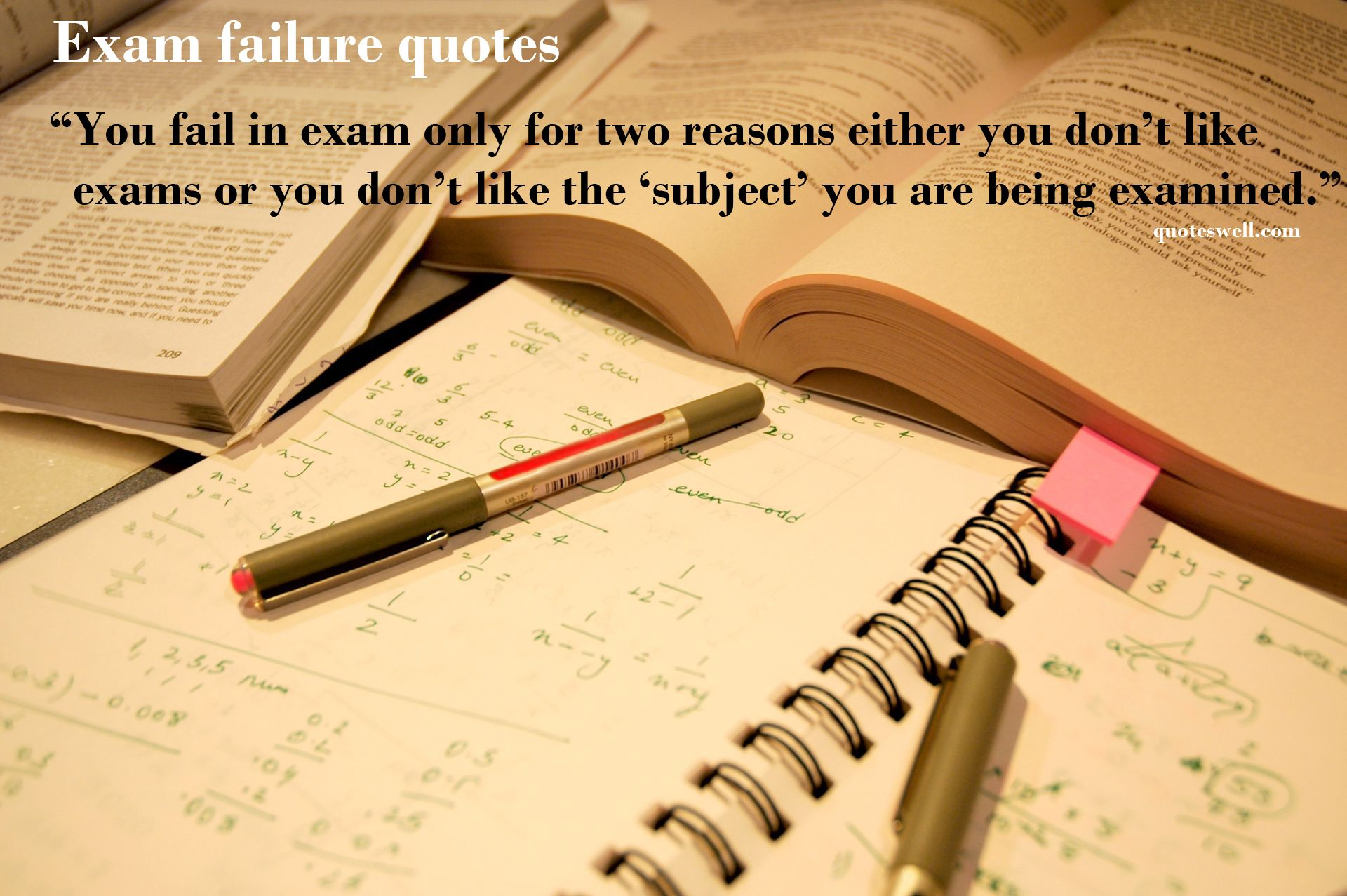 Exam quote #1