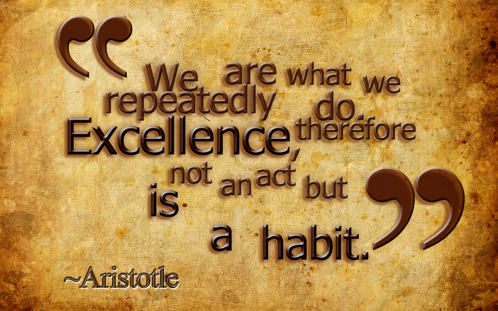Excellence quote #1