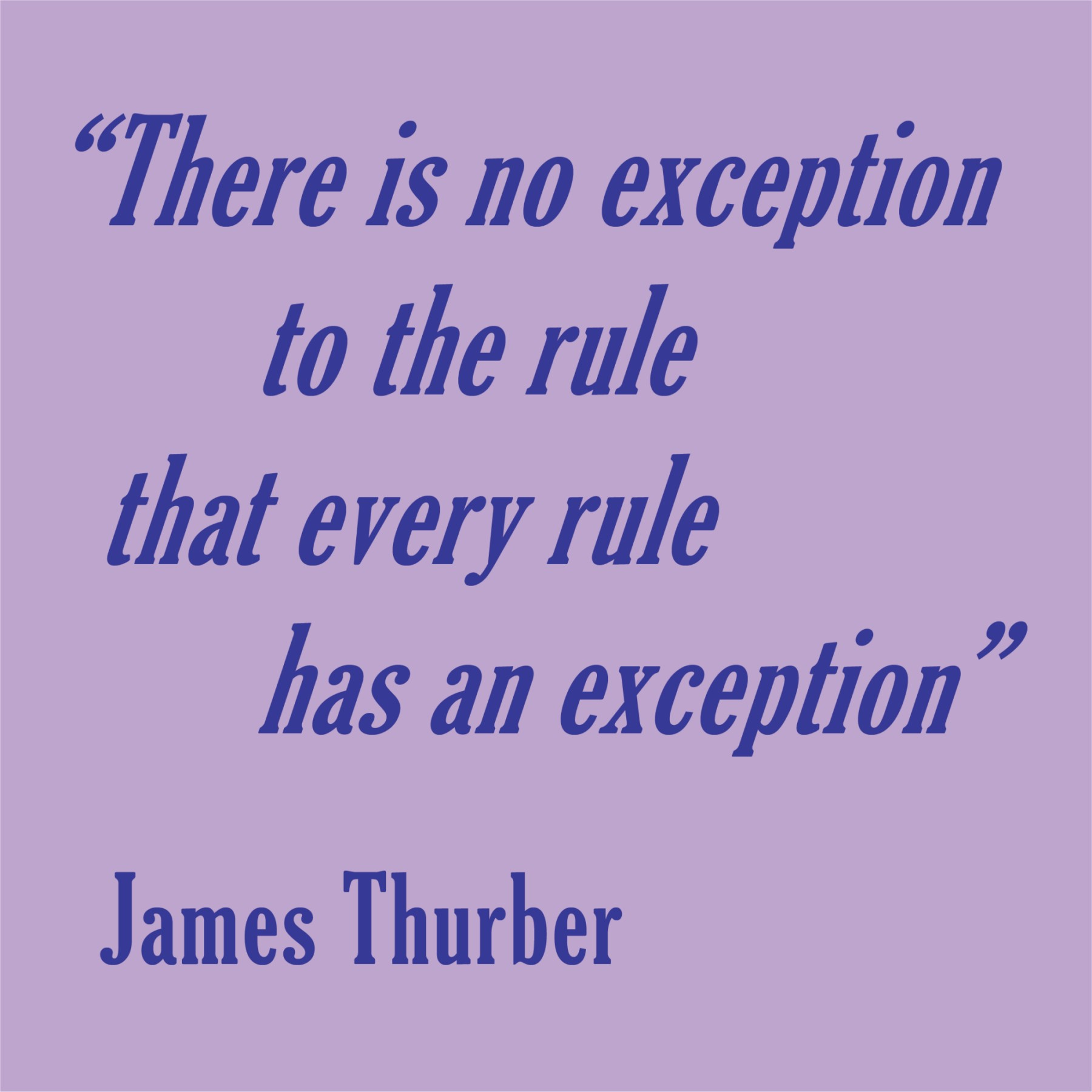 Exception quote #1