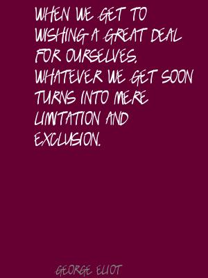 Exclusion quote #1