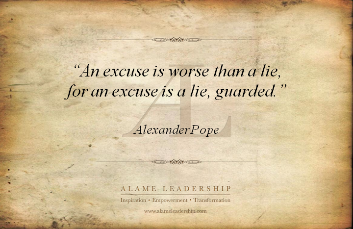 Excuses quote #1