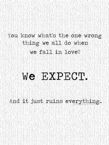 Expectation quote #1