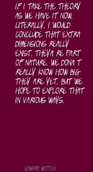 Extra Dimensions quote #1