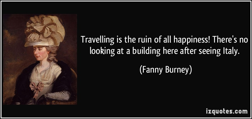 Fanny Burney's quote