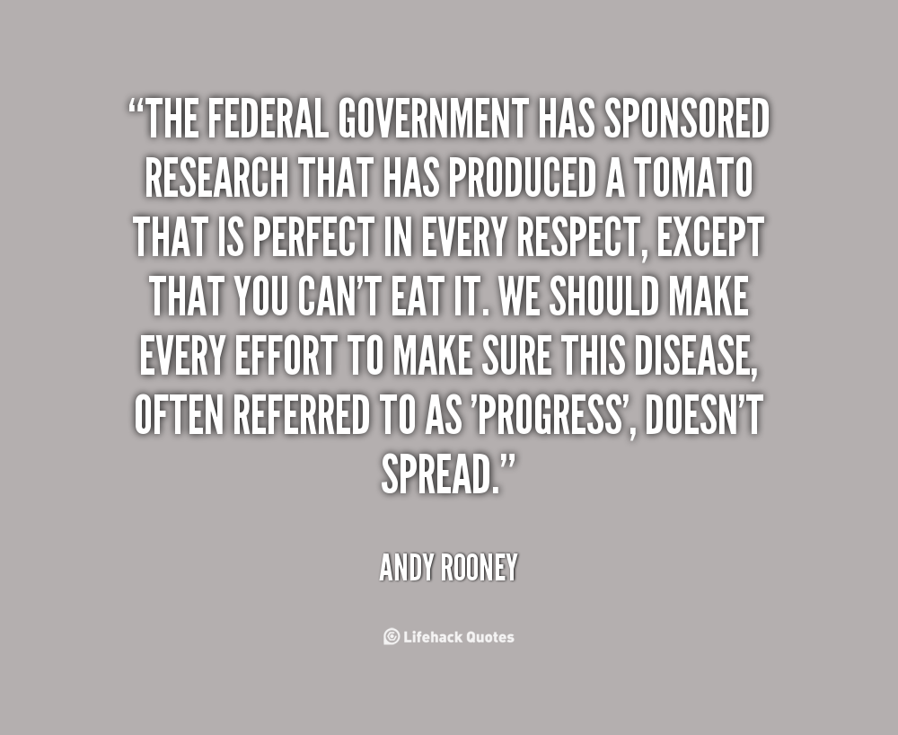 Federal Government quote #2