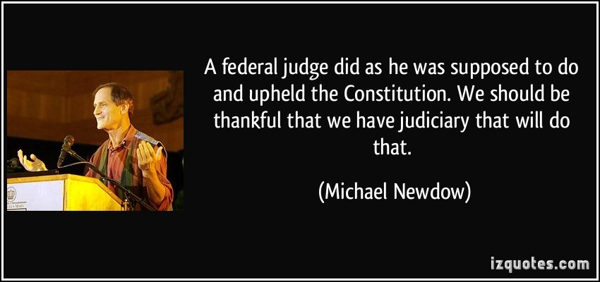 Federal Judge quote #2