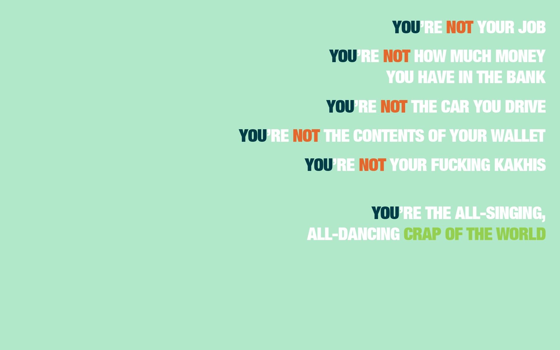Fight Club quote #1