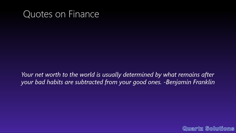 Finance quote #6