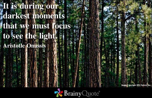 Focusing quote #2