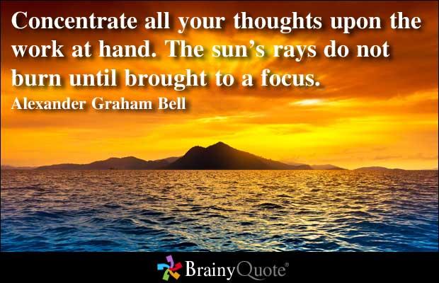 Focusing quote #3