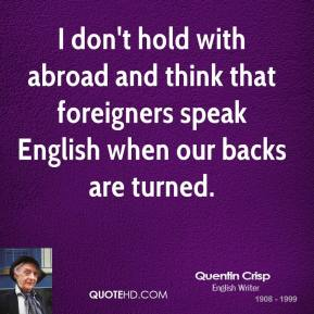 Foreigners quote