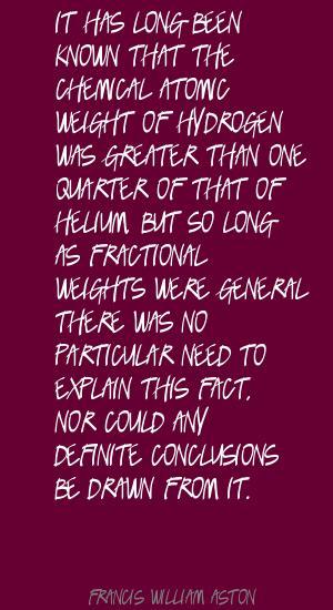 Francis William Aston's quote #2