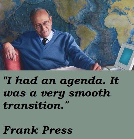Frank Press's quote