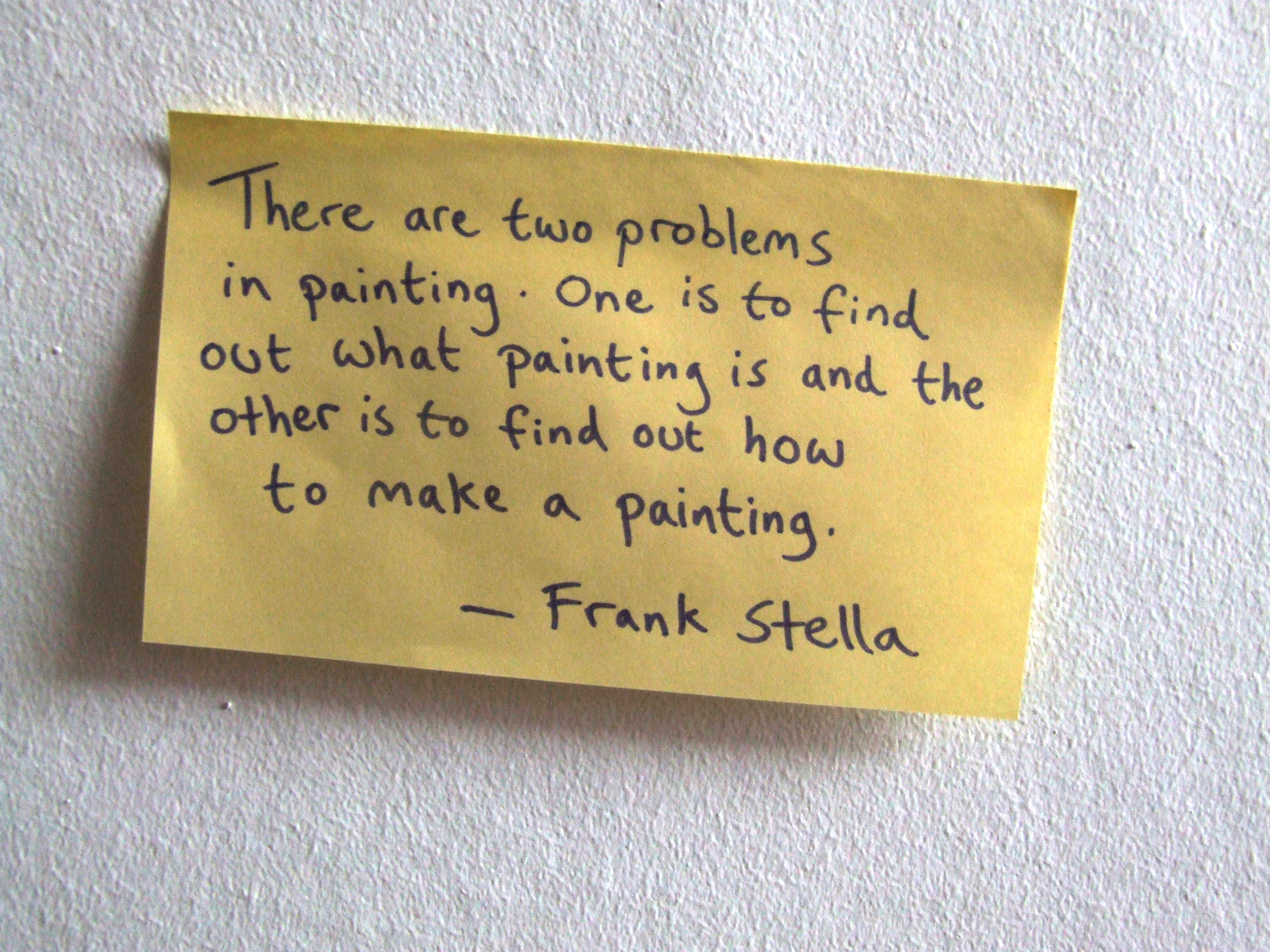 Frank Stella's quote