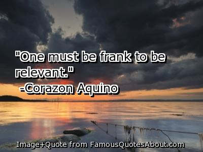 Frankness quote #1