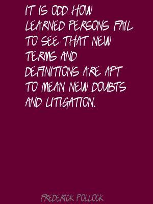 Frederick Pollock's quote #3