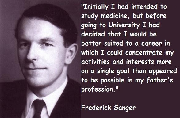 Frederick Sanger's quote #6