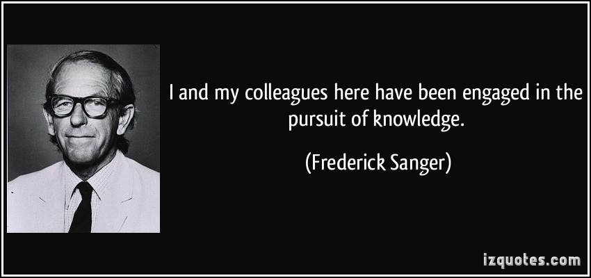 Frederick Sanger's quote #1