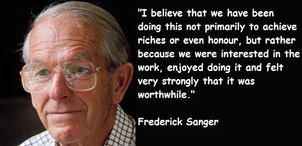 Frederick Sanger's quote #5