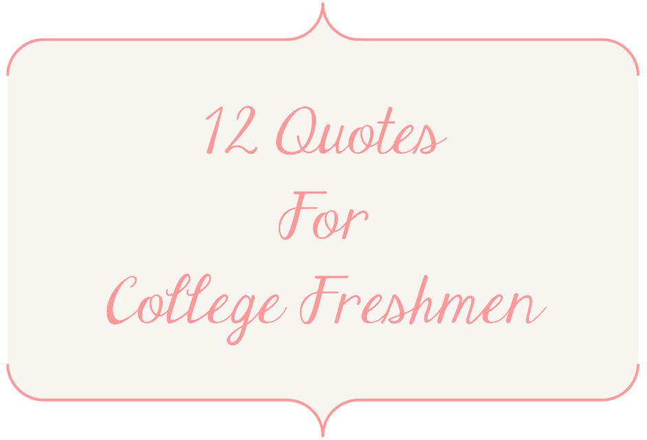 Freshmen quote #2