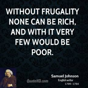 Frugality quote #1