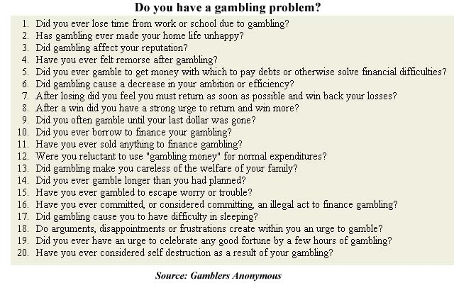 i have a gambling problem essay Gambling essay by lauren bradshaw june 3, 2009 example essays it cannot be denied that problem gambling is a reality and we have to do something to stop it.